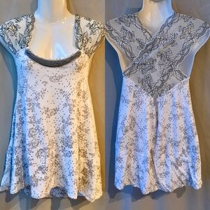 Free People NWT Wide Lace Straps Wrap Top, Size XS